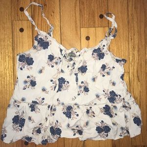 """Tops - """"Don't ask why"""" floral cropped tank top"""
